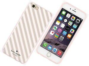 KATE SPADE Apple iPhone 6 / 6s Hardshell Back Case || Cream Gold Stripe