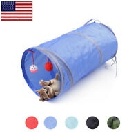 Pet Cat Tunnel Toys Rabbit Pop Up Tube Collapsible 2 Way Puppy Kitten Play Toy O