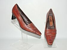 CAPRICE BROWN LEATHER SLIP ON SHOES UK SIZE 3.5