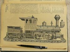 1878 Machines Tools Locomotive 23x30 cm technical drawings German Constructor
