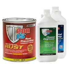 POR-15 45304 Rust Preventative Coating Silver Kit w/ Metal Prep & Degreaser