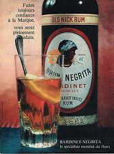 PUBLICITE ADVERTISING  1960   NEGRITA  RHUM  OLD NICK