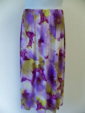 A Personal Touch Skirt NWT 2X  Purple Floral