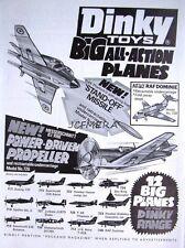 1972 Dinky Toys ADVERT 'Messerschmitt 109E', 'F-4K Phantom II - Vintage Print AD