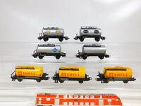 CD166-1# 7x Märklin H0/AC Kesselwagen DB: Esso + Aral + BP + Shell + Henkel