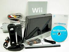 Nintendo Wii Komplettset: Konsole schwarz + Wii Sports Spiele #59037
