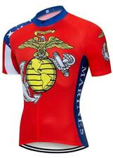 USMC Military Retro Cycling Jersey Short Sleeve Gear Bike Maillot