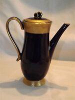 Ilmenau Graf Von Henneberg Orient Demitasse Coffee Pot - Cobalt & Gold