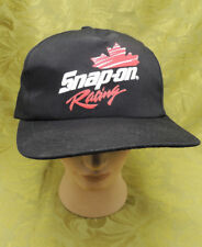Vintage Black Snap On Tools Racing Hat Cap Snapback