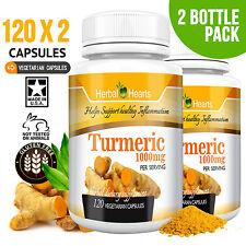 2 bottles of Turmeric Curcumin 240 capsules 1000 mg l 100% Organic and Fresh!