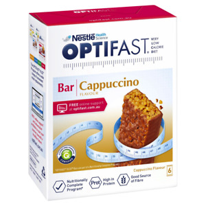 Optifast VLCD 6 x 65g (390g) Bars - Cappuccino Flavour Meal Replacement Diet
