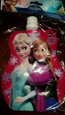 Disney's Frozen Elsa & Anna Collapsible Water Bottle With Keychain Clip!  340 ml
