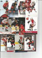 1999-2006 CALGARY FLAMES HOCKEY 200+ CARD LOT NO DUPS