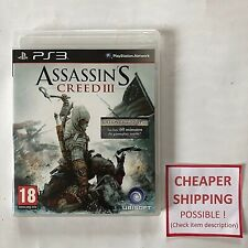 PS3 PlayStation 3 - ASSASSIN'S CREED III 3 Edition Exclusive