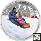 2016 'Winter Fun' Colorized Proof $10 Silver Coin 1/2oz .9999 (NT) (17511)