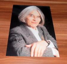 Donna leon * siciliano Brunetti *, original signed photo 20x25 cm (8x10)