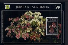 1999 JERSEY ORCHIDS AUSTRALIA '99 MINISHEET FINE MINT MNH/MUH