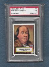 Benjamin Franklin 1952 Topps Look N See PSA 7 NM