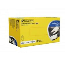 More details for box 100 200 1000 bodyguards 4 latex lightly powdered disposable gloves valeting
