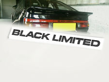 AE86 BLACK LIMITED SPRINTER TRUENO LICENCE PLATE, decal, sticker, vinyl