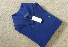 BNWT  Polo Ralph Lauren SHAWL Collar Sueded Royal Blue Jumper BNWT Size M