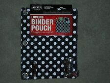 Vaultz Locking Binder Pouch Combination Lock Black with White Dots - NEW.