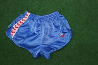 Arena Vintage Sprinter Shorts Nylon Glanz kurze Sporthose hellblau D8 XXL NEU
