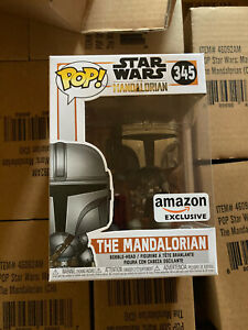 Funko POP! Star Wars 345 The Mandalorian Chrome Mando EXCLUSIVE FREE SHIP