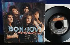 "BON JOVI- I'll Be There for you ORIGINAL 7"" 45 Pic Picture Cover/hard rock NM"