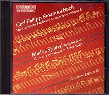 C.P.E. BACH Keyboard Concerto Vol.8 Miklos Spanyi BIS CD Carl Philipp Emaunel
