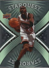 Michael Jordan #SQ20 Green Upper Deck Starquest 2008/09 NBA Basketball Card