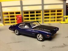 1/64 1969 Pontiac GTO Judge in Blue Met./White Int with a 455 H.O./Rubber Tires