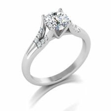 1.00 Ct Off White Forever Moissanite Wedding Engagement Ring 925 Sterling Silver