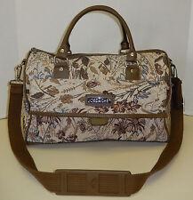 Jordache Tapestry Floral Multi-Colored Handbag Shoulder Bag Satchel Tote Duffle