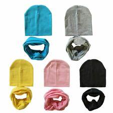 Children's Beanie Hat Scarf Newborn Bonnet Baby Boy Girl Kids Cap Winter Autumn