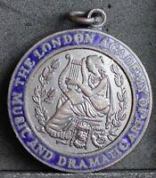 London Academy of Music & Dramatic Art Bronze & Blue Enamel Medal Acting Honours