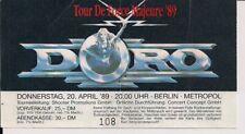 DORO Used Ticket Berlin 20.04.1989