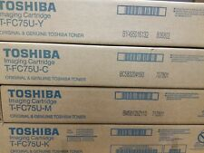 New Genuine Toshiba TFC75U K-C-M-Y Toner Cartridge Set