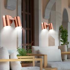 Edelstahl Wand Beleuchtung Balkon Außen Leuchte kupferfärbig Strahler schwenkbar