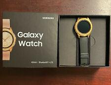 Samsung Galaxy Watch SM-R815U 42mm Rose Gold w/black band Bluetooth + LTE
