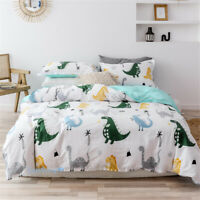 Dinosaur Quilt/Doona/Duvet Cover Set Single/Double/Queen/King Bed 100% Cotton