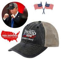 2 PACK Trump Cap Keep America Great MAGA hat President 2020 WIN 2020 Black Sd