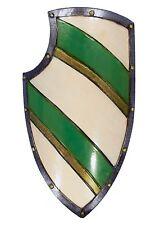 Epic Armoury Ritterschild LARP-Schild Wappenschild Mittelalter Grün/Weiß