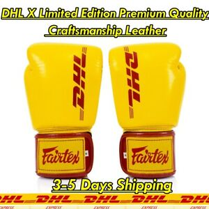 DHL X Boxing Gloves Craftsmanship Leather Limited Edition Premium Quality