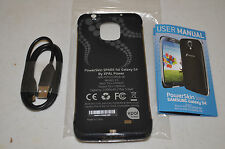 PowerSkin Spare Samsung Galaxy S4 S 4 EXTENDED Battery Charging Case Black NEW