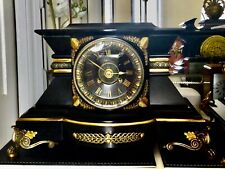 More details for antique slate marble clock circa 1870