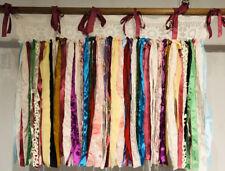 "Shabby Handmade Gypsy Boho Hippie Rag Valance Curtain Window,Wall,Door, 31""x 28L"
