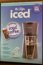 Mr Coffee Iced Coffee Maker - Lavender - Reusable Tumbler & Filter - In Hand