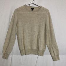 J. Crew Mens Heather Wool Alpaca Blend Pullover Sweater Size M