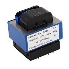 Transformador de alimentación PCB 0-11V 140mA + 0-7V 180mA